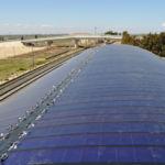 Impianto fotovoltaico realizzato con guaina fotovoltaica